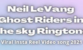 Neil LeVang Ghost Riders in the Sky. Viral instagram Reel song 2021.