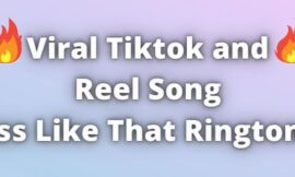 Viral TikTok Reel Song Ass Like That Ringtone