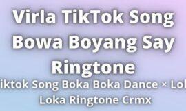 Bowa Boyang Say Ringtone Download